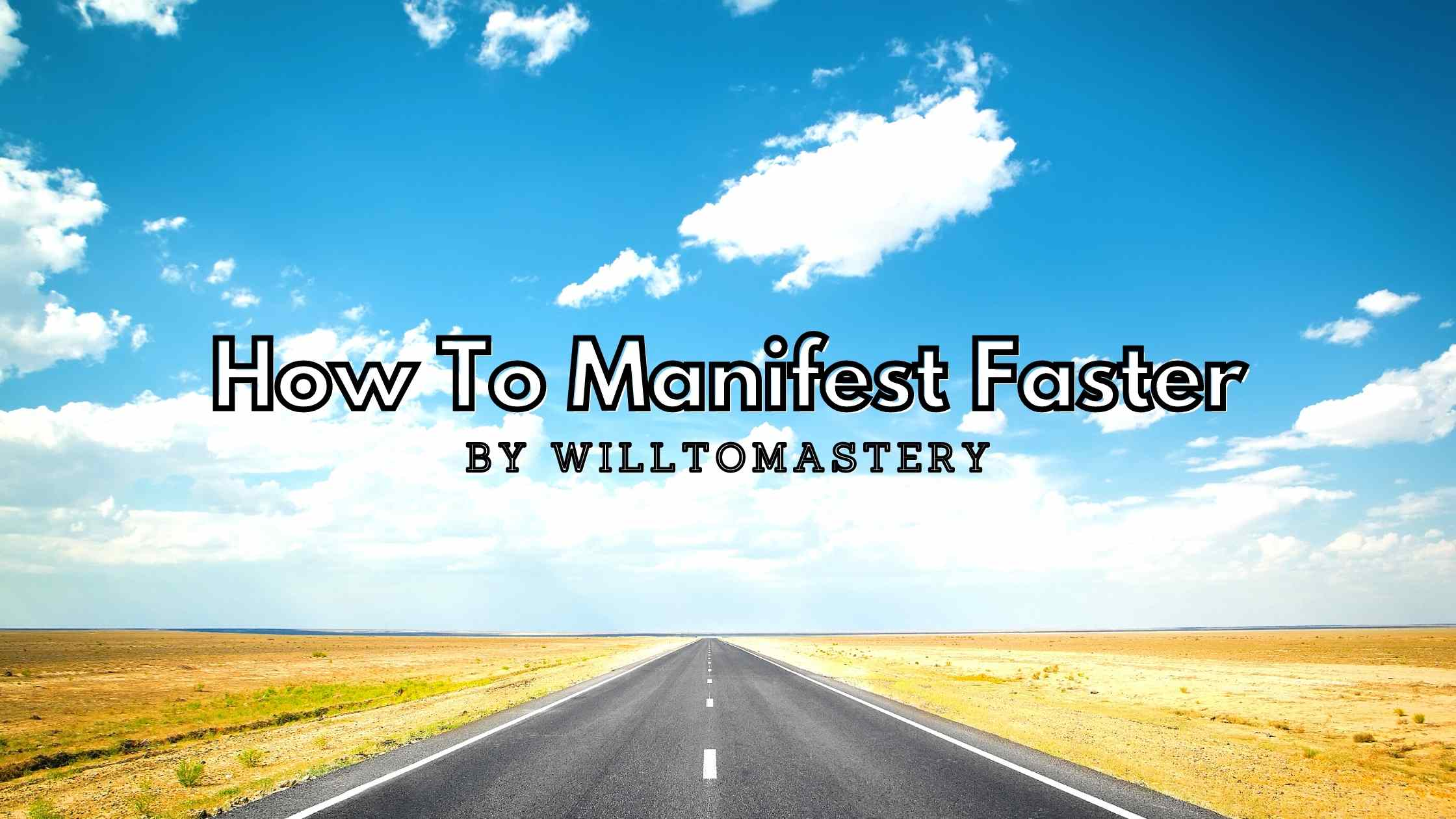 manifest faster here's how to speed things up